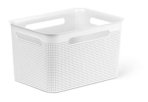 Rotho Brisen Aufbewahrungsbox 16 l, Kunststoff (PP), weiß, 16 Liter (36 x 26,2 x 21 cm)