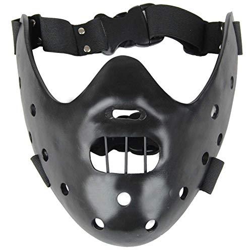 Baijian Das Schweigen der Lämmer Hannibal Lecter Harz Masken Maskerade Cosplay Tanzparty Requisiten Halbe Gesichtsmaske Sammleredition (Black)