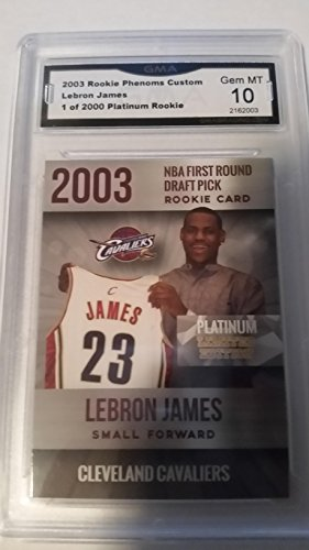Lebron James Rookie 2003 Graded Gem MINT GMA 10. Only 2,000 Made!