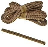 6 mm x 6 m Cuerda de lino Cuerda de yute Cuerda de 4 capas 6 m Cuerda de cáñamo fuerte Cable Craft Craft Twist Cuerda de cáñamo 6 mm