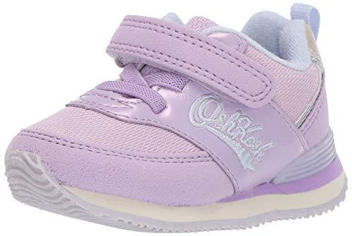 OshKosh B'Gosh Kids Lu - Zapatillas Deportivas Retro para niños y niñas, Púrpura, 10 MX Niñito
