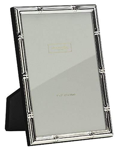 Addison Ross - Portaritratti Bamboo in silverplate con supporto, 12,7 x 17,8 cm
