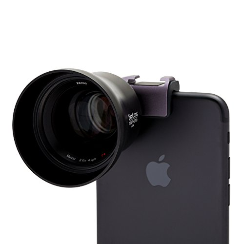 ExoLens with Optics by ZEISS Mutar 2.0X Asph T Telephoto Lens for iPhone 7, 6s, 6s Plus, 6, 6 Plus