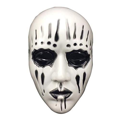 CHENGL Halloween-Maske,Slipknot Joey Jordison Maske Für Erwachsene Scary and Horror Halloween Maske Maskerade Cosplay Party Masken Mascara de Halloween,Schwarz,Schwarz