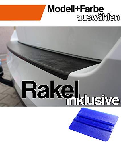 Mokka X Ladekantenschutz Lackschutzfolie von CCW© mit Profi-Rakel in 3D Carbon Schwarz