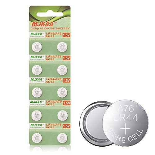 10pcs LR44 AG13 Coin Cell A76 1.5v Button Cell Battery