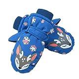 Rubyu Kinderhandschuhe Wintersport Super-Warm Skihandschuhe Wasserbeständig Winddicht Fausthandschuhe Kinder Handschuhe für 3-14 Jahre Mädchen Jungen, Weihnachten Geschenk