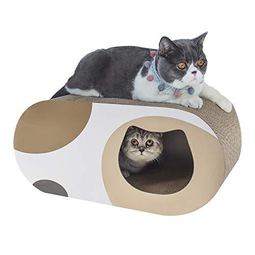 ComSaf 猫 爪とぎ 段ボール つめとぎ トンネル 大型 猫ハウス 爪研ぎベッド 58×25.4×25.4cm(幅X奥行X高さ)