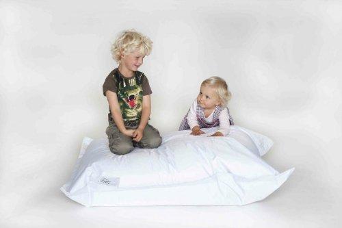 IHP Fritz Sitzsack 'Junior', befüllt, Indoor/Outdoor, Größe 130cm x 100cm x 30cm, Farbe Weiss