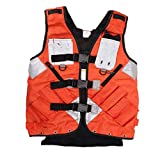 Sweety House General Hardware Tools Vest Electrician Carpenter Plumber Construction Pipe Industrial Hardware Kit Vest Vest (Orange)