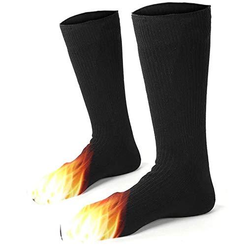 Elektrische Beheizte Socken, Winter Komfortable Thermosocken, Draussen Aktivitäten Skifahren Wandern Bergsteigen Camping Wärme verdicken Socken für Männer & Frauen