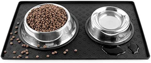 Cooma Dog Cat Pet Feeding Mat Silicone Waterproof Dishwasher Safe Food Mat M L 0 4inch Raised product image