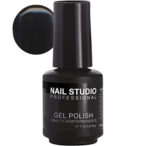 Nail Studio - Smalto per Unghie Professionale Gel Polish Semipermanente Mani e Piedi - Durata 4 Settimane - 39 Colori - Colore Nero Intenso 32, 7 ml