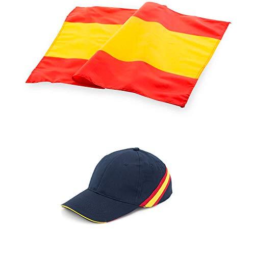 COSAS43 DETALLES PARA INVITADOS BODA-COMUNION-BAUTIZO Gorra de España + Bandera de España.