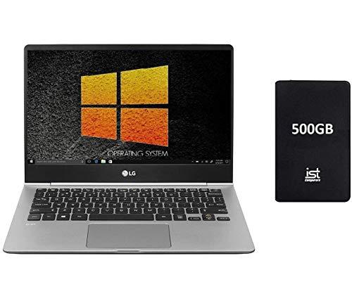 "LG Gram 13"" Full HD (1920x1080) IPS Touch Thin, Light Business Laptop (Intel Core i7-8550U, 8GB RAM, 256GB SSD) Fingerprint, Backlit, Type-C, HDMI, Windows 10 Home+IST 500GB Portable HD (Renewed)"