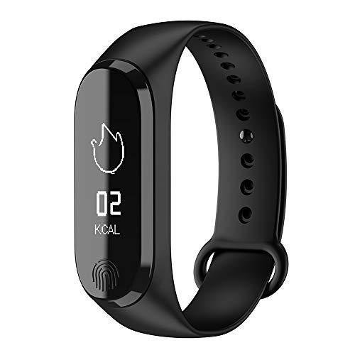 9302sonoaud Braccialetto Intelligente di Sport di Bluetooth di Polsino del Monitor di Pressione sanguigna di frequenza cardiaca Nero