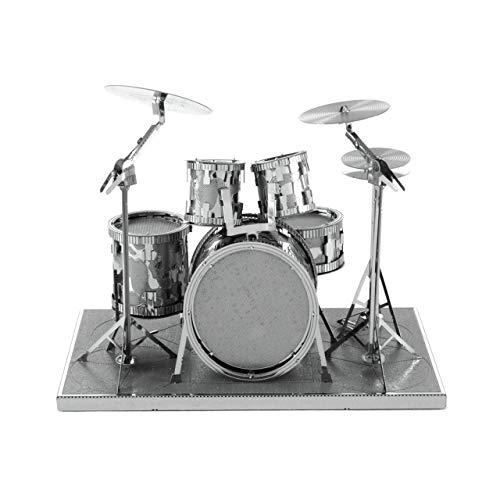 Fascinations Metal Earth MMS076 - 502736, Drum Set, Konstruktionsspielzeug, 2 Metallplatinen, ab 14 Jahren