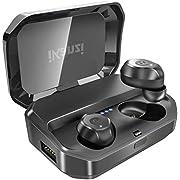 【最新版 Bluetooth 5.0 120時間連続駆動】 ワイヤレスイヤホン Bluetooth ワイヤレス イヤホン IPX7完全防水 Bluetooth イヤホン 3500mAh充電式収納ケース付き 120時間連続駆動 SBC / AAC対応 Hi-Fi 高音質 3Dステレオサウンド Bluetooth ワイヤレス イヤホン ノイズキャンセリング 左右分離型 ブルートゥース イヤホン マイク内蔵 自動ペアリング Siri対応 iPhone/ipad/Android適用