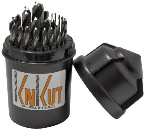KnKut 29KK5DB Jobber Set for 1/16-Inch to 1/2-Inch by 64ths Drill Buddy, 29-Piece