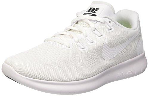 Nike Damen Free Rn 2017 Laufschuhe, Elfenbein (White/White/Black/Pure Platinum), 37.5 EU