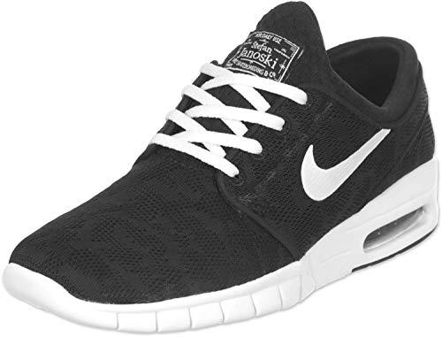Nike Stefan Janoski Max Sneaker Turnschuhe Freizeitschuhe Schuhe Unisex- Schwarz - Weiß, 38.5 EU