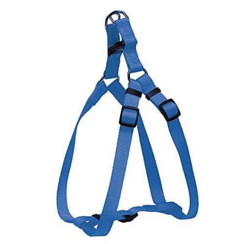 CHAPUIS SELLERIE Harnais pour Chien Sangle Réglable Nylon Bleu 20 mm 50-70 cm, Taille M