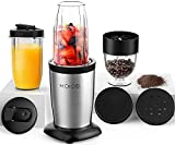 KOIOS 850W Personal Blender for Shakes and Smoothies, 11 Pieces Bullet Single Smoothie Blender for...