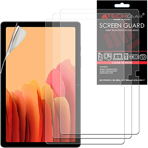 TECHGEAR 3 Stück Schutzfolie für Galaxy Tab A7 10.4 Zoll (SM-T500 / SM-T505) Screen Protector, Ultra Klare Schutzfolie Kompatibel mit Samsung Galaxy Tab A7 2020