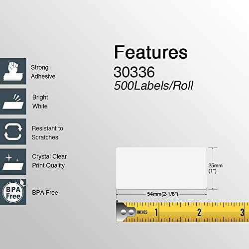 """BETCKEY - Compatible DYMO 30336 (1"""" x 2-1/8"""") Multipurpose & Barcode Labels - Compatible with Rollo, DYMO Labelwriter 450, 4XL & Zebra Desktop Printers[10 Rolls/5000 Labels] Photo #5"""