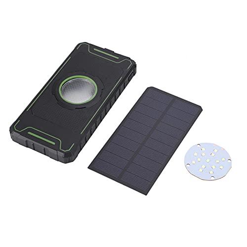 FOLOSAFENAR Caja portátil del Cargador del Caso del Banco de energía portátil Solar de la iluminación del deslumbramiento del Panel, Conveniente para la mayoría de los teléfonos