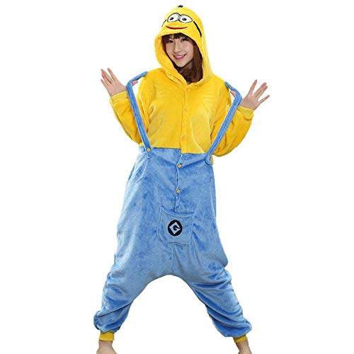 Frauen Erwachsene Onesie Kigurumis Pyjama Anime Cartoon Lustige Jumpsuit Sleep Wear Karneval Party Anzug XL Minions