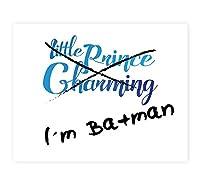 私はバットマンNot Prince Charming、バットマン、面白い引用符で印刷印刷、私はバットマンウォールサイン、子供赤ちゃん保育園壁飾り用寝室装飾キッズポスター引用アートワーク、ベビーBoy Nursery 08x10 PRIbatma001ENxxx0810.m