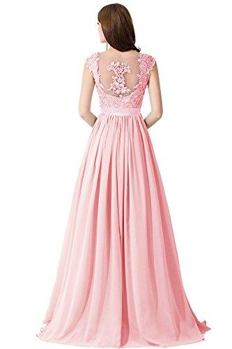 Misshow Damen Abendkleider Elegant Lang Übergrößen Chiffon Rückenfrei Abendkleider Für Mollige
