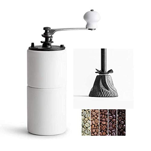 Coffee Grinder,Manual Conical Ceramic Burr Mill for Precision Brewing, Heavy Duty For K-cup, Espresso, French Press, Turkish Best Coarse Grind for Office Home, Traveling Camping Consistent Grind Herb