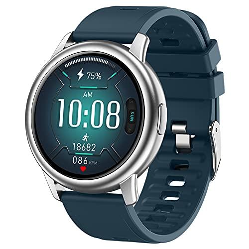 APCHY Smart Watch for Men, 1.3'Smartwatch De Pantalla Táctil, Rastreador De Fitness con Monitor De Ritmo Cardíaco, Reloj Impermeable con Monitor De Sueño,Verde