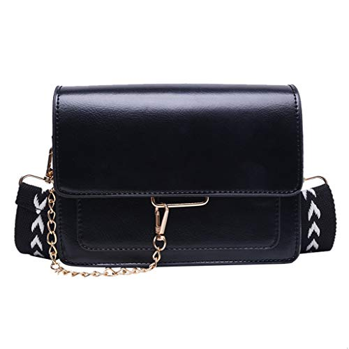MAWOLY Damenmode Freizeittasche Single Sollte Kunstleder Taschen Reißverschlusstasche Casual Messenger Umhängetasche (One size, Schwarz)