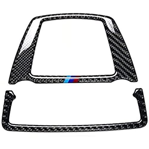 YFBB Ajuste para BMW 5 Series GT F07 F10 X3 X4 F25 F26 Interior de Fibra de Carbono para luz de Lectura Delantera Cubierta de Marco