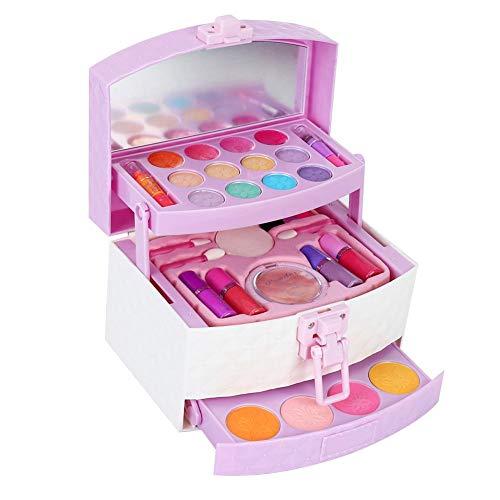 Kinderkosmetik-Set, Kinder verträumte wasserlösliche Kosmetik Spielzeug Mini Makeup Box Spielhaus Spielzeug für Kinder Mädchen