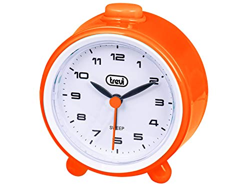 Trevi SL 3P24 kwartshorloge met wekker, grote wijzerplaat, stille sweep, Suoneria in Crescendo, snooze-knop Unica Oranje.