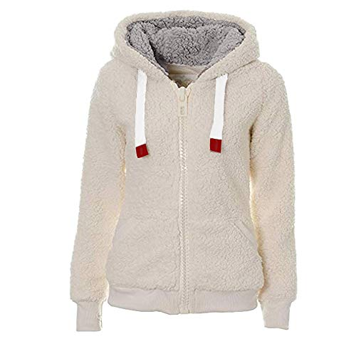 KaloryWee Sale Clearance Ladies Womens Soft Teddy Fleece Hooded Jumper Hoody Jacket Coat Cream Taupe Black