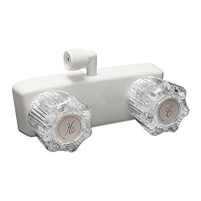 Dura Faucet DF-SA100A1-WT RV Shower Faucet Valve Diverter for Exterior Shower Boxes (White)