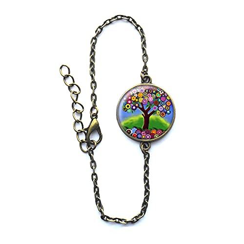 Pulsera de árbol de la vida, pulsera grande del árbol de la vida, pulsera del árbol de la vida, regalo de joyería para ella, pulsera del árbol de la vida - #142