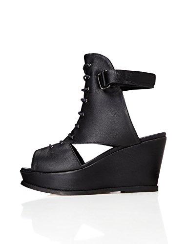 find. Sandalias de Cuña Mujer, Negro (Black), 39 EU