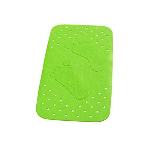 """Wanneneinlage Wannenmatte Sicherheitseinlage für die Badewanne """"LITTLE FEETS"""" Größe: 72 x 38cm - FARBE: Grün"""