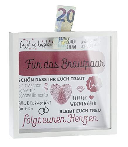 Gilde MDF Spardose'Für das Brautpaar mit Sichtfenster 43456