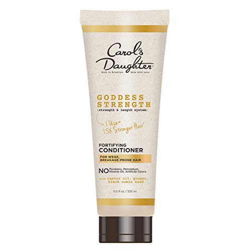 Carol's Daughter Goddess Strength Paraben Free Strenthening Conditioner for Curly Hair with Castor, Black Seed Oil and Ginger, For Weak, Breakage Prone Hair, 11 Fl Oz