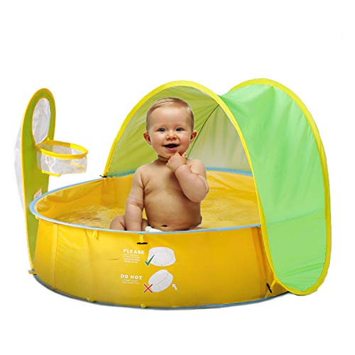 Inno-Huntz Baby Pool Infant Beach Tent with Pop Up Mini Sun Shade Canopy for Kids UV Protection Shelter Outdoor 50+ UPF Summer Pop Up Travel Set for Toddler Toy Ball Pit