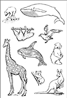 動物の世界のスタンプスクラップブッキング用のクリアスタンプ透明シリコーンゴムDIYポーアルバムの装飾
