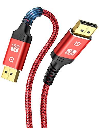 Cable DisplayPort 4K, ALCLAP Cable DP 144Hz Alta Velocidad - [4K@60Hz, 2K@144Hz, 2K@165Hz]-Cable Display Port 2M Compatible con Laptop/TV/PC ASUS/DELL/Monitor de Juego