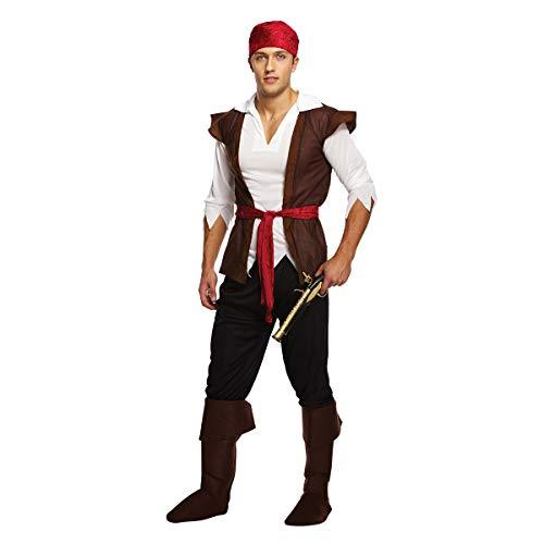 Mens Erwachsene Caribbean Pirate Fluch der Kostüm-Ausstattungs-Hut Bea